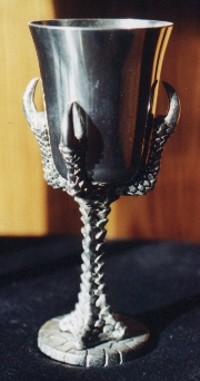 Of pewter - Pewter dragon goblet ...
