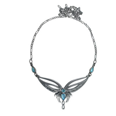 Pendants necklaces elven wings neckace silverplated aloadofball Image collections